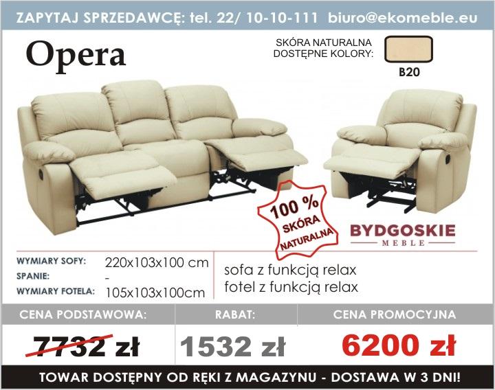 Opera Sofa Rozkładana Z Funkcja Relax Fotel Z Funkcja Relax
