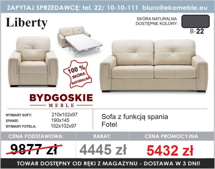 Liberty Sofa 3 Z Funkcją Spania Fotel Bydgoskie Meble