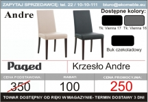 Paged  krzesło andre